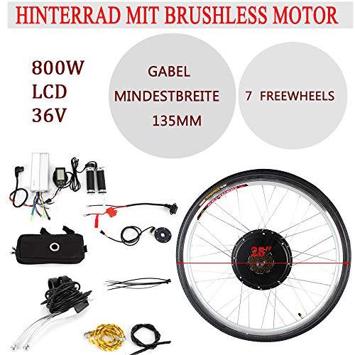 OUKANING Hub Motor 36 V 800 W Kit conversión Bicicleta