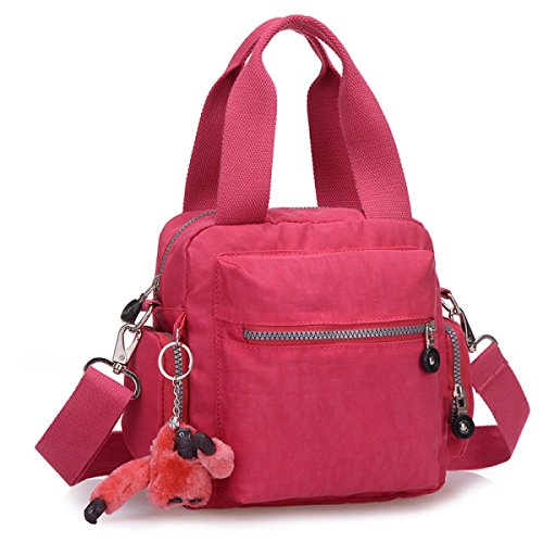 Yy.f Handtasche Handtasche Kurierbeutel Damebeutel Mamabeutel-Segeltuchbeutel Schulterbeutel. Mehrfarbig Red