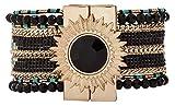Hipanema Femme Acier Bracelets manchette - E18LETERBLK