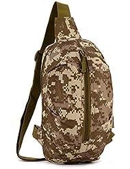 cinmaul táctica militar Mochila de hombro cintura bolsa de deporte Rover Sling Cuerda Senderismo Bolso de caza, hombre, Desert Camouflage