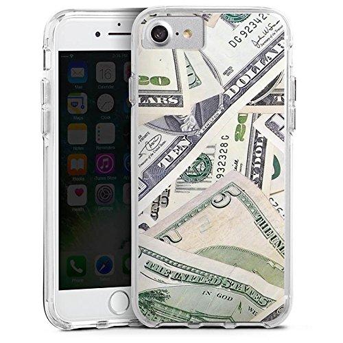 Apple iPhone 6 Bumper Hülle Bumper Case Glitzer Hülle Geld Dollar Scheine Bumper Case transparent
