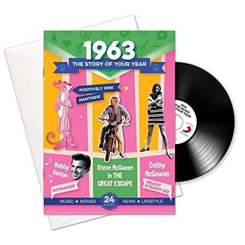 1963 Jubiläum oder Geburtstag Geschenke - 1963 4-in-1 Karten und Geschenk - Story of Ihr Jahr, CD, Musik-Download - Geburtstags-e-geschenk-karten