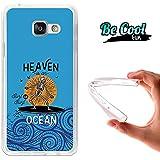 BeCool® Fun - Coque Etui Housse en GEL Flex Silicone TPU Samsung Galaxy A3 2016 , protège et s'adapte a la perfection a ton Smartphone et avec notre design exclusif.Paradis surfeur