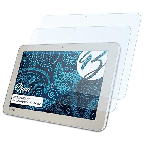 Bruni Schutzfolie kompatibel mit Toshiba Encore 2 WT10-A-102 Folie, glasklare Bildschirmschutzfolie (2X)