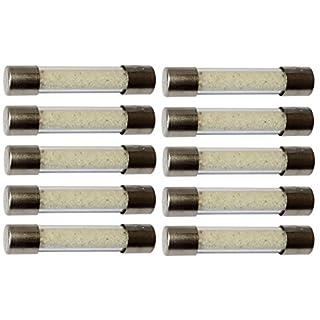 Aerzetix: 10 verzögert zeitlich träge Sicherungen Glas 6.3x32mm 220V 250V 10A