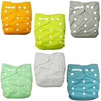 Alva bebé 6pcs unidades bolsillo lavable ajustable pañales de tela pañales + 12inserciones