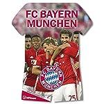FC Bayern Trikotkalender 2017 - Bayern Kalender, Fankalender Fußball, Fußball Kalender, FC Bayern München Kalender  -  34 x 42 cm