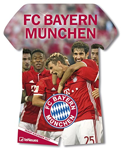 Preisvergleich Produktbild FC Bayern Trikotkalender 2017 - Bayern Kalender, Fankalender Fußball, Fußball Kalender, FC Bayern München Kalender - 34 x 42 cm