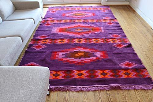 300 x 200 cm, flecos, Kelim, Camino alfombra Orient