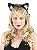 Luxuspiraten - Katzenohren Haarreif Kostüm , Schwarz