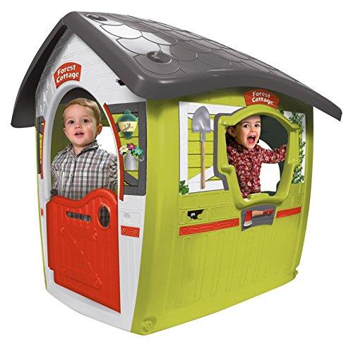 INJUSA Casa de Juegos Forest House para Niños de 3 Años, Diseño guardabosques con Puerta abatible, Verde y Blanco (2035)