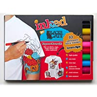 Permanent Fabric Markers – Pack of 10 high quality 1mm fine-tip pens. Water-based & non-toxic ink. Child-safe. Have fun & paint the best DIY designs on your T-shirts, shoes etc & stand out from the crowd