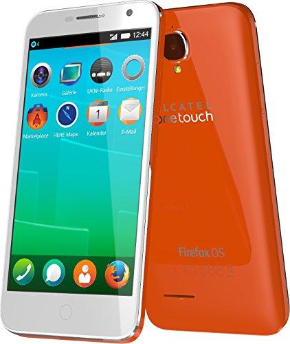 Alcatel Onetouch Fire E 11.4cm (4.5 Zoll) qHD Display 4GB, 1.2GHz Dual-Core, 512MB RAM, mozilla orange