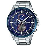 Casio Herren Datum klassisch Quarz Uhr mit Edelstahl Armband EFV-520RR-2AVUEF