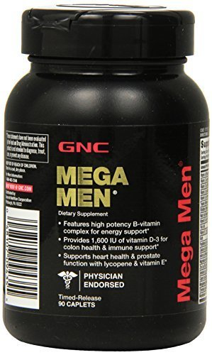 GNC Mega Men Supplement, 90 Count by GNC - Mann Gnc