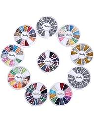 Cheeky Lot de 3 boîtes de décorations pour ongles Multicolore