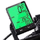 Tachimetro per mountain bike-Computer da bici Tachimetro e contachilometri per computer cablati da bicicletta Impermeabile con retroilluminazione Accessori display bici LCD di grandi dimensioni