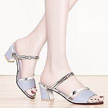 5d288ba62e9 Shukun Sandalias chanclas Sandalias Mujer Verano Zapatos Romanos Zapatos de  Mujer En el Grueso con Pez