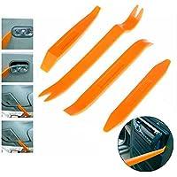 Ociodual Kit de 4 herramientas para desmontar el salpicadero radio coche panel frontal