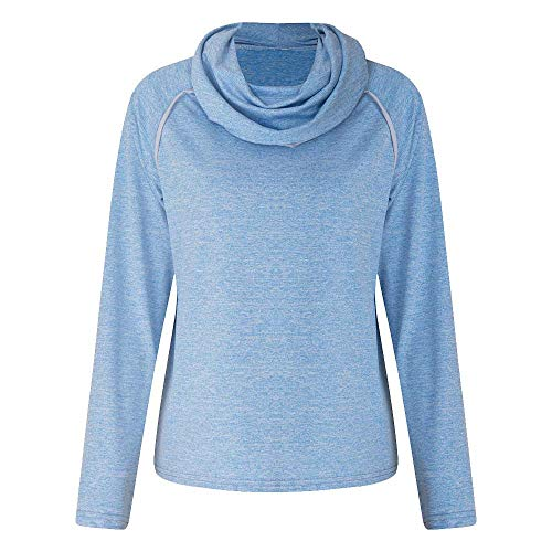 Preisvergleich Produktbild Sannysis Damen Pullover Langarmshirt Elegant Winter Langarm Solid Rollkragen Patchwork Sweatshirt Casual Bluse