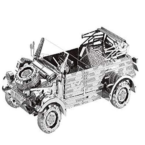 klkll Metall Modell Modell3D MetallmodellbausatzFahrzeugmontage Modell DIY 3D Laser Cut Modell Puzzle Spielzeug für Erwachsene