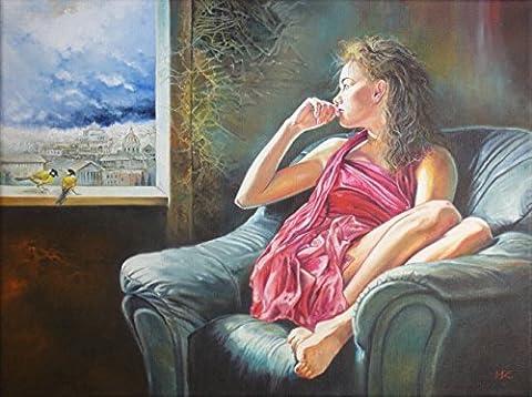 Obella Peinture par numéros Kits issu de la gamme salle Fille 50x 40cm issu de la gamme Peinture par numéros numériques, peinture à l'huile, sans cadre