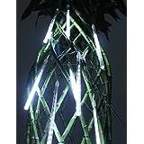 Dngy*20cm Decoración Festival Lluvia de Meteoros luces LED blanco para la fiesta de Navidad (8-Pack, 110-220 V).