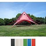 CLP Sternzelt für den Garten I Event-Zelt mit 10 Meter Durchmesser I Gartenzelt mit einer überdachten Fläche von ca. 15 m² I In verschiedenen Farben erhältlich Rot