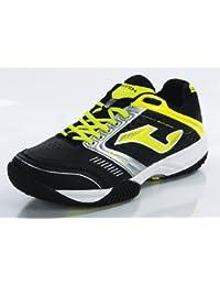 Joma - Zapatillas para deportes de interior de cuero para hombre negro negro