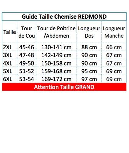 Chemisette Rouge à Carreaux du 3XL au 6XL Redmond Rouge