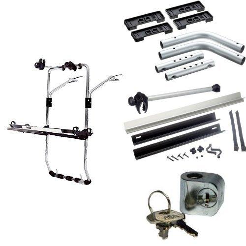 Preisvergleich Produktbild Thule Fahrradträger zum Transport von 3 Rädern auf der Heckklappe für VOLKSWAGEN Multivan (T5). Komplettset inkl. Schloss und Schlüssel.