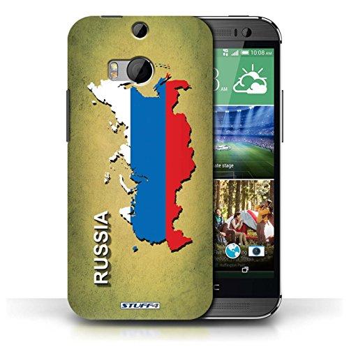 Coque de Stuff4 / Coque pour HTC One/1 M8 / Ecosse/écossaise Design / Drapeau Pays Collection Russie/Russe