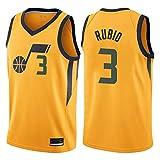 ES Camiseta Ricky Rubio Utah Jazz Amarillo,Camiseta Swingman,Camiseta Deportiva,Camiseta Statement edición (Amarillo, L)