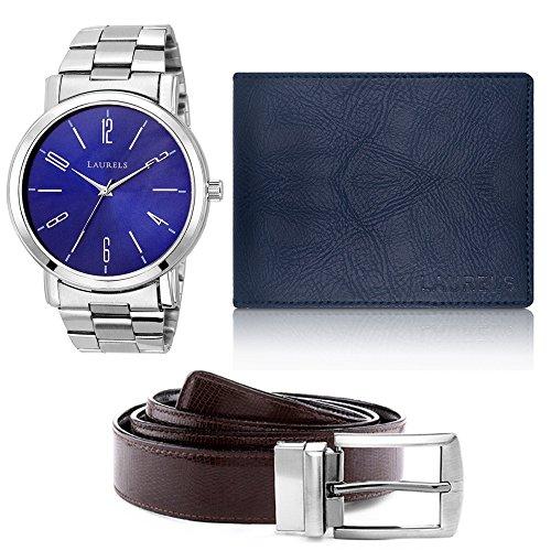 Laurels Men's Combo Pack of Wallet & Belt (Cp-Svt-0307-Urb-03-Vt-0209)