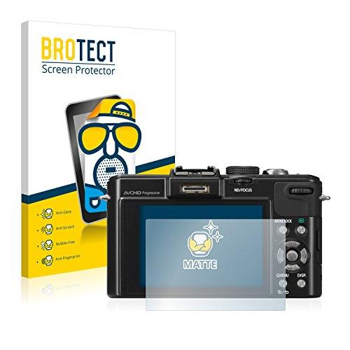 2x BROTECT Displayschutzfolie für Panasonic Lumix DMC-LX7 Schutzfolie - Entspiegelt, Anti-Fingerprint (Panasonic Lumix Lx7 Kamera)