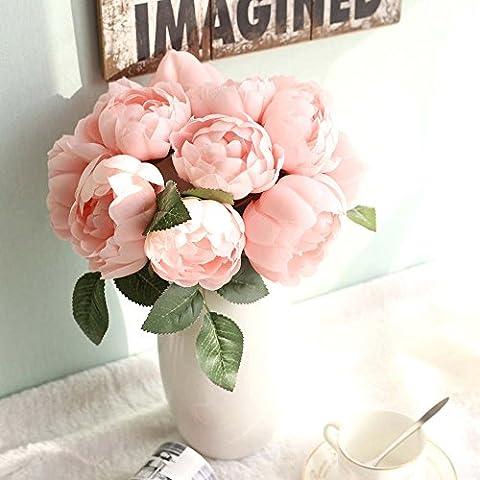 Fleurs Artificielles, Pivoine Bouquet de fleurs de soie Maison de
