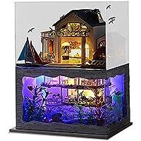 2X Möbel Puppenhaus Moebel DIY Miniatur Staubschutz mit Moebel Holzhaus Spielzeug G KO
