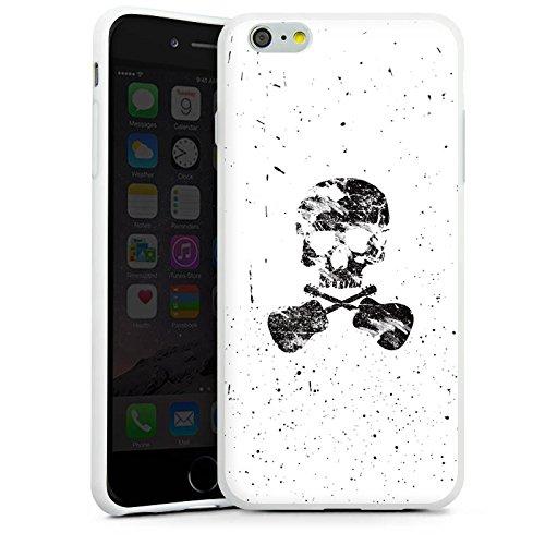 Apple iPhone X Silikon Hülle Case Schutzhülle Ein toter Dichter Totenkopf Skull Silikon Case weiß