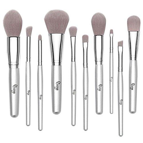 qivange Make-up-Pinsel-Set, Puder Pinsel Lidschatten Pinsel–synthetisches 10PCS Pinsel...