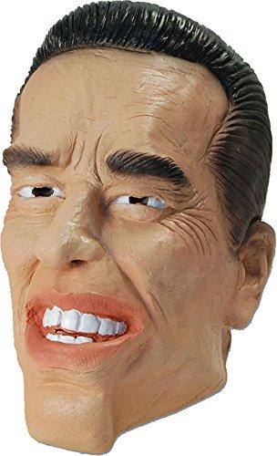 Arnold Schwarzenegger Verkleidung kostümparty mit Kapuze Gummi Arnie Terminator Maske (Promi-bilder)
