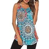 Linkay Damen T Shirt, Sommer Kurz Bluse Tops Oberteile Mode 2019 (Hellblau, Medium)