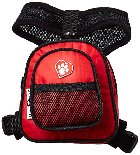 Artikelbild: SarahTom 12,7cm Pet Rucksack für Hunde, rot