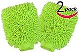 Sinland Premium Microfiber Car Wash Mitt Waschhandschuh 2 Stück