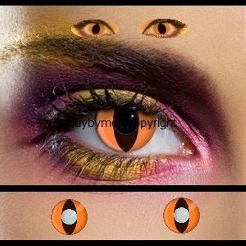 tlinsen orange katzenauge katze drache schlange manga vampire halloween zombie kostüme fashing (Halloween Kostüme Objektive)