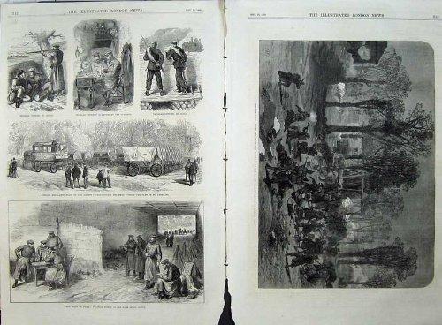 Nuage 1870 de Germains d'Ambulance de Prussians de Guerre de Paris de Siège par original old antique victorian print