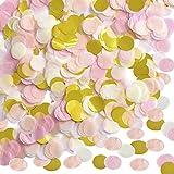 Outus 1 Pouce Confetti de Papier Rond Confetti de Table de Papier Confetti de Tissu Papier du Cercle de Fête, 10000 Pièces, 4 Couleurs