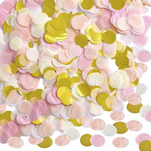 1 Pulgada Confeti de Papel Confeti de Seda Redondo Papel de Círculo de Fiesta Confeti de Mesa, 10000 Piezas, 4 Colores