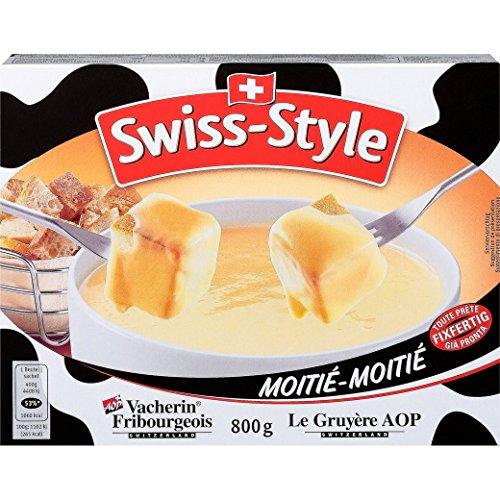 Fondue-Käse Swiss Style 'Moitié-'Moitié' von MIFROMA - 800g, Vacherin Fribourgeois und aus Greyerzer, für einen gemütlichen Fondue-Abend
