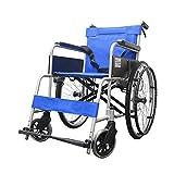 Jian E -/ Fauteuil Roulant - Fauteuil Roulant Manuel en Alliage d'aluminium Portable Pliant léger handicapé Personnes âgées /-/ (Couleur : Solid Tire)