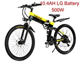 XXCY Elektrofahrräder aktualisiert M1 500W 48V 10.48A Lithium Batterie Faltrad MTB Mountainbike E Bi